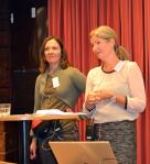 KUB-projektets utvärderare Cecilia Gärdén och Karen Nowén Hedvall